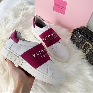 Kate Spade white sole sneakers